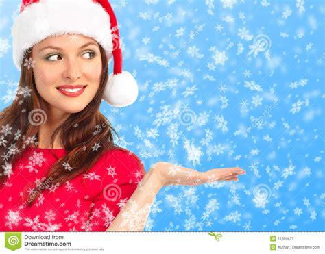 imagenes mujeres vestidas de navidad donna di natale fotografia stock libera da diritti