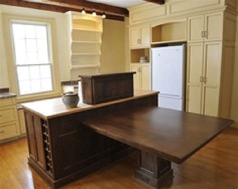 kitchen island table combination island dining table attached kitchen combo larger