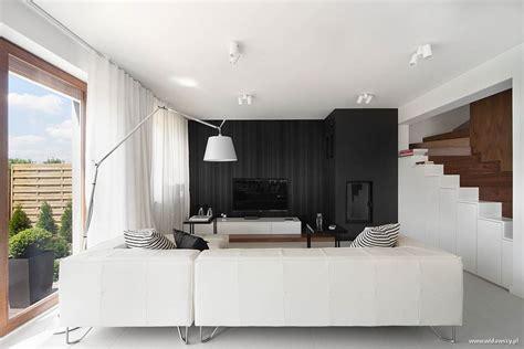 new house interior design ideas nowoczesna kuchnia z salonem w bieli widawscy studio architektury homesquare