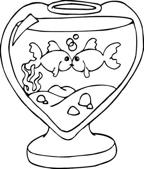 coloring page st valentine beso de peces dibujalia dibujos para colorear