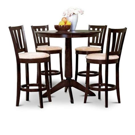 Counter High Table With Stools by Espresso Counter Height Dining Bar Table And 4 Bar Stools