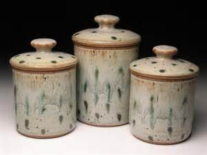 stoneware kitchen canisters pottery canister set wheel thrown pottery by brentsmithpottery