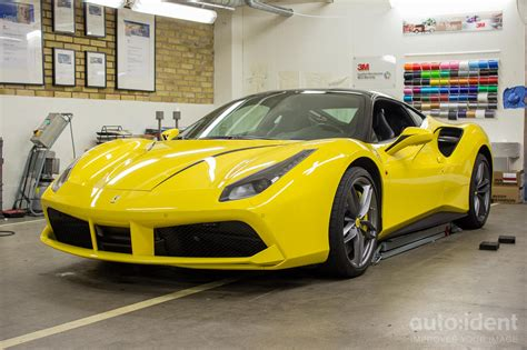 ferrari yellow paint paintprotection auto ident