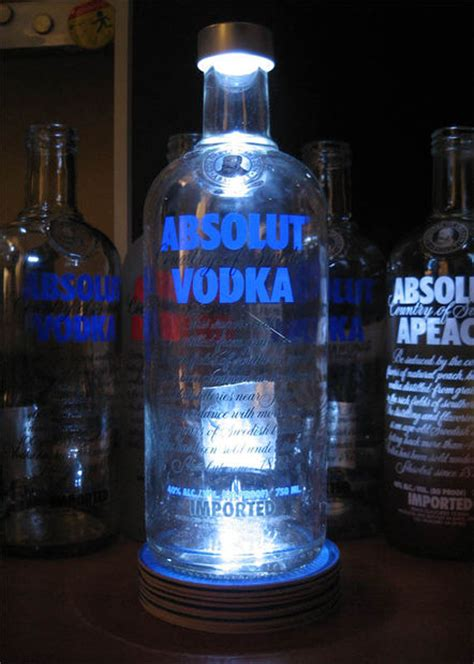 light up bottle of vodka how to a vodka l or any other booze bottle light up