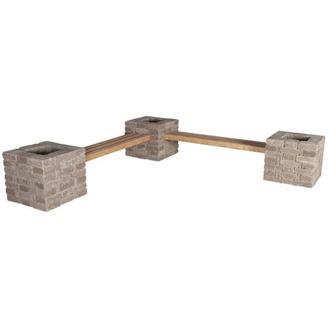 cement garden bench home depot a pavestone rumblestone bench with space for planting