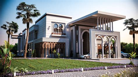 arabic arch 3d model search islamic villa
