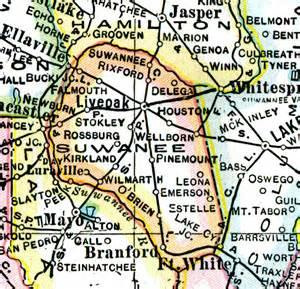 map of suwannee county florida suwannee county 1921