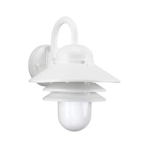 Polycarbonate Outdoor Lighting Sea Gull Lighting Polycarbonate Outdoor 1 Light White Outdoor Wall Mount Lantern 83055en 15