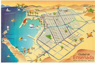 map of ensenada city area map of mexico regional