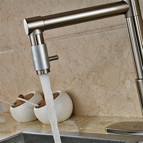 Senlesen Brushed Nickel Kitchen Sink Faucet Pull Out Down
