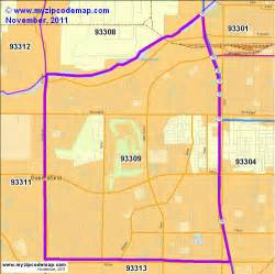zip code map of 93309 demographic profile residential