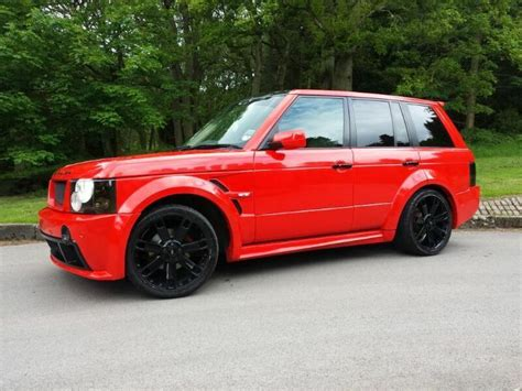 range rover modified red range rover vogue l322 red td6 diesel custom wide body