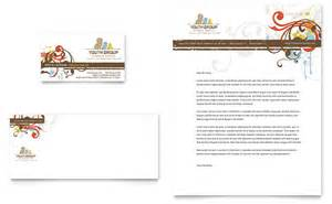 church youth group business card amp letterhead template