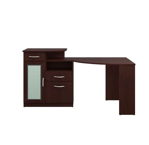 Cherry Corner Desk With Hutch Cherry Corner Computer Desk With Hutch Office Storage Drawer File Cabinet Shelf Desks Home