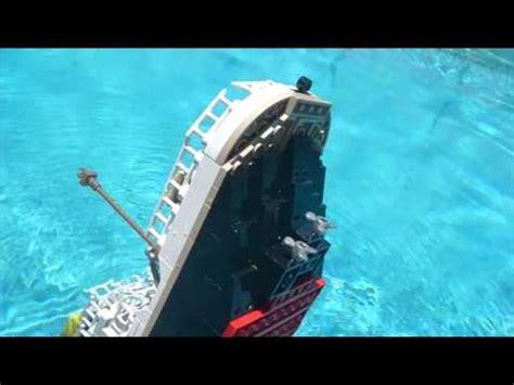 lego boat sinking in pool lego cobi titanic sinking recreation in my pool read