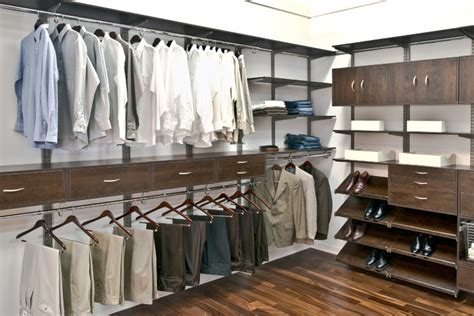 mens walk in closet organized living freedomrail men s walk in closet