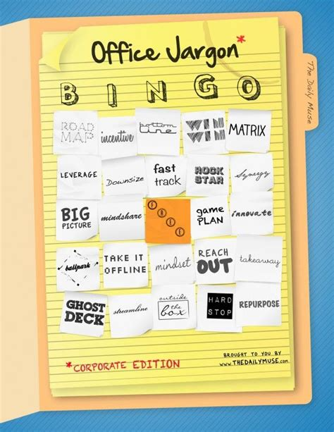 Office Jargon Play The Daily Muse Office Jargon Bingo The Muse