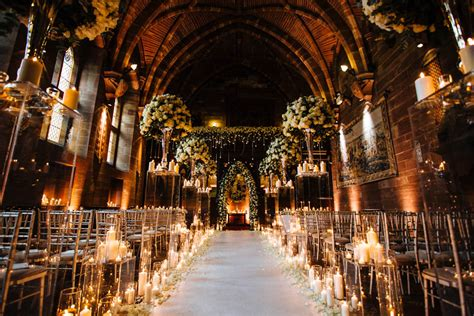 cool wedding venues uk silver and ivory wedding at peckforton castle junebug
