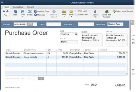Managing Inventory Managing Your Business Quickbooks 2014 The Missing Manual 2014 Quickbooks Purchase Order Template