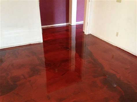 reflective flooring metallic interior installation