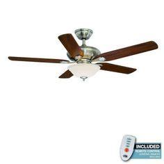 hton bay sedalia ii 52 in brushed nickel ceiling fan