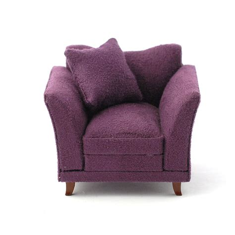 plum armchair e3621 soft plum armchair online dolls house superstore