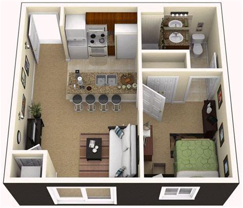 simple 450 square foot apartment floor plan home design 1 bedroom 1 bath 450 sq ft 1 450