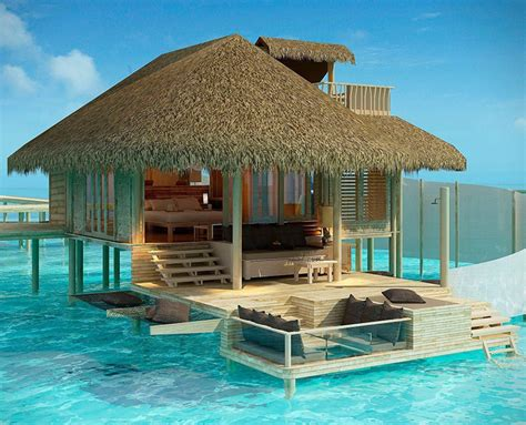 maldive bungalow six senses resort in the maldives has bungalows directly