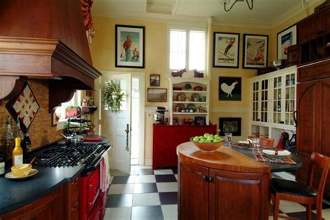 French Bistro Kitchen Room Design With Checkerboard Floors | checkerboard flooring timeless beauty for any room of the