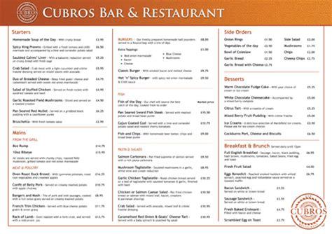 exles of restaurant menus layout menu designs sles