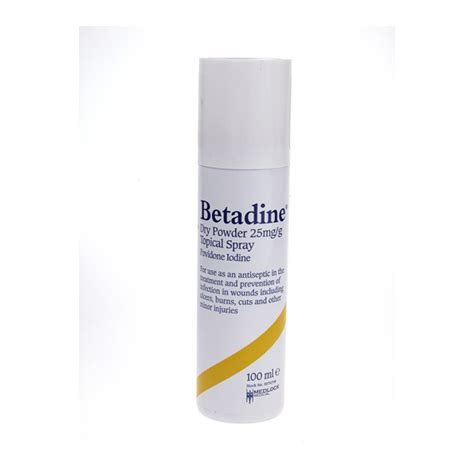 betadine powder spray chiropody express