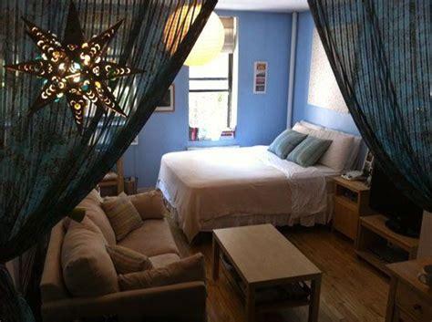 studio apartment curtain divider small studio apartment big ideas