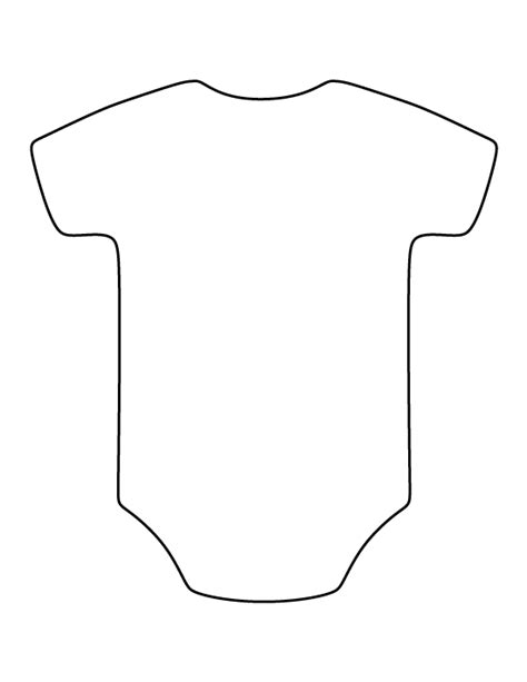 onesie pattern use the printable outline for crafts