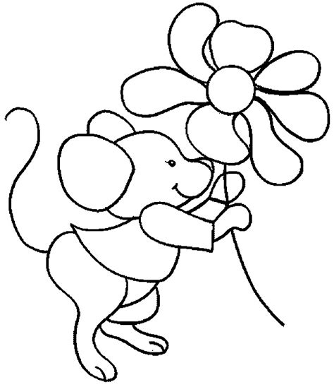 Cartoon Mouse Coloring Page | free printable mouse coloring pages for kids
