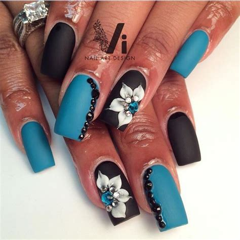 Acrylic Nails With 3d Designs