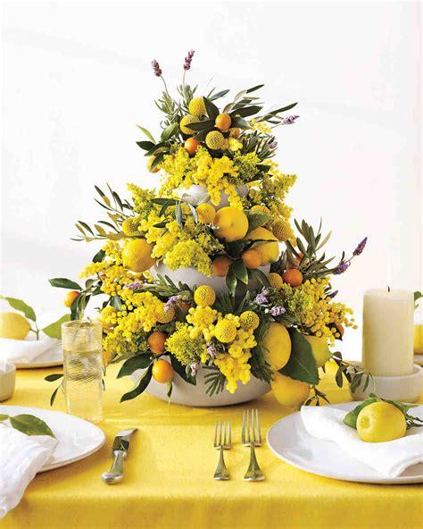 yellow wedding centerpieces martha stewart weddings