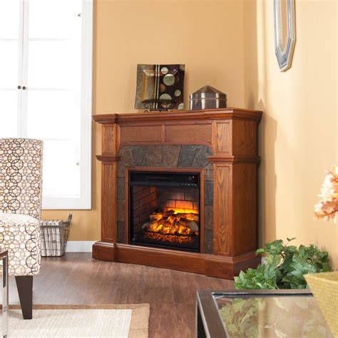 Small Ls For Mantle cartwright infrared electric fireplace in mission oak fi9285