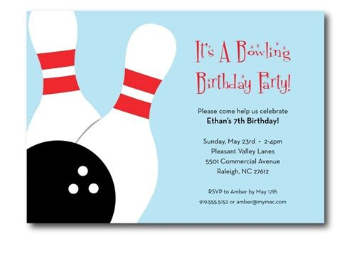 free printable bowling birthday invitations new ideas