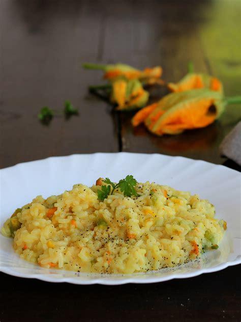 risotto con fiori di zucca risotto fiori di zucca zafferano ricetta tradizionale