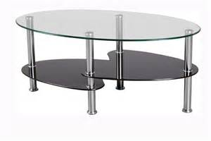 the oval glass coffee table for minimalist home concept