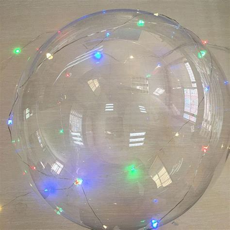 Balon Pesta Helium Led Luminious with stick led bobo balloons flash luminous clear balloons with 3m led light string light