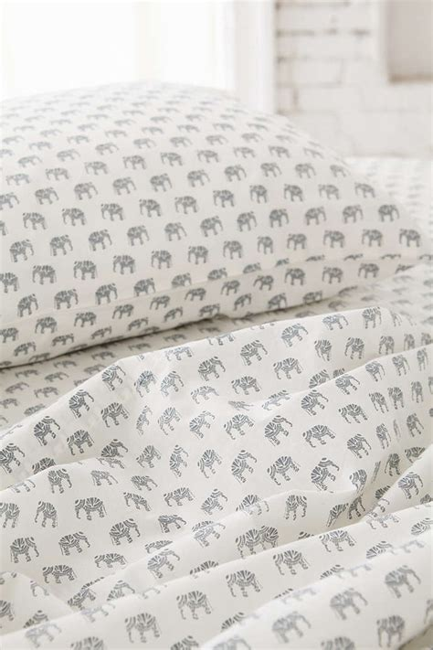 elephant bed sheets magical thinking woodblock elephant fitted sheet urban