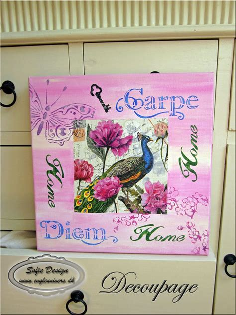 Decoupage Photos On Canvas - decoupage on canvas decoupage by margrete sofie