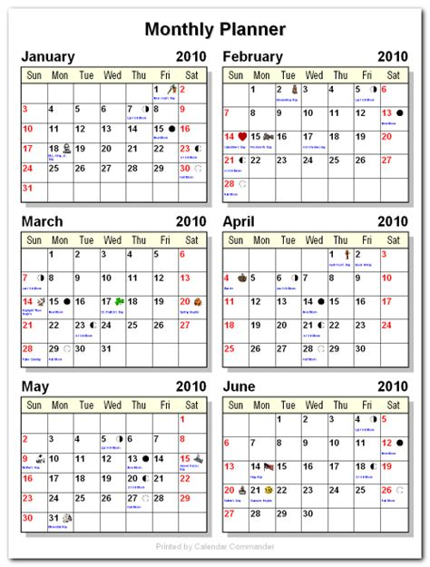 Calendar 6 Months Printable Calendars 6 Months Per Page Autos Post