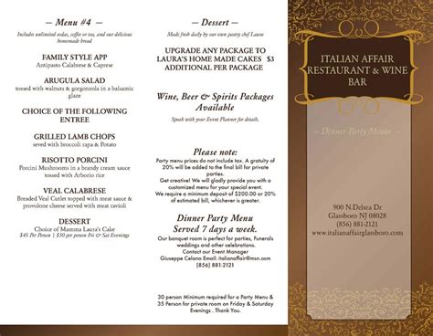 italian dinner menu italian themed dinner menu home ideas