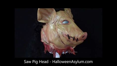 Pig In Bathtub Saw Pig Head Mask Halloweenasylum Com Youtube