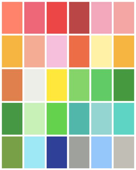 sping colors spring color palette spring color palette spring colors