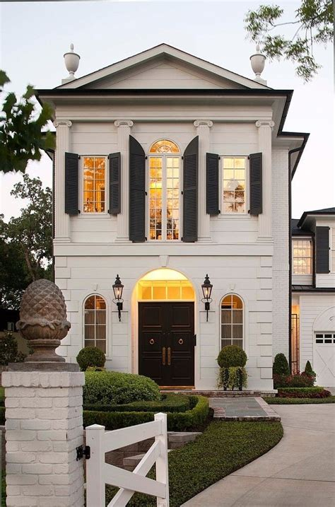 black and white home white house with black trim design ideas and photos