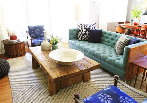 turquoise sofa living room turquoise tufted sofa eclectic living room emily
