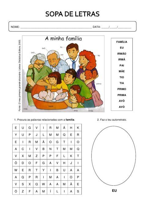 sopa de letras sopa de letras a familia